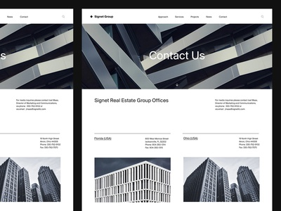 Contact Page — Real Estate Website