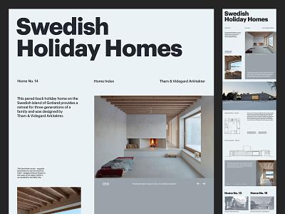 Swedish Holiday Homes — Website design grid ux art direction sweden minimal layout typography website design