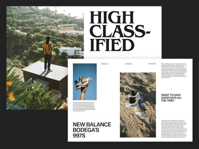 New Balance – Magazine Layout photography agency branding art direction grid layout ux web minimal typography