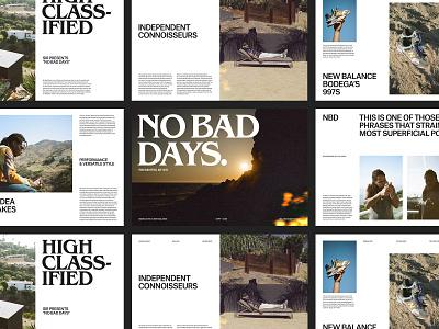 New Balance – Magazine Layouts website grid ux art direction design layout web minimal typography