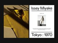 Issey Miyake — Fashion Show Invitation