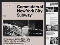 NYC Subway Photography — Web Layout