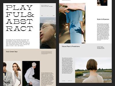 Artist Profile — Website ux design photography website art direction minimal grid layout web typography
