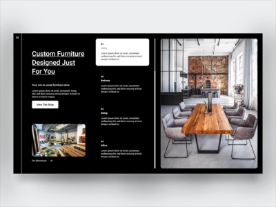 Furniture Shop furniture store furniture shop ecommerce online shop branding landing page design minimal ux ui landing page grid layout grid design flat design
