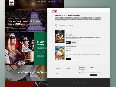 Shopping Mall - Movie Theatre  - Web Design