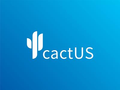 cactUS Logo illustration vector logo