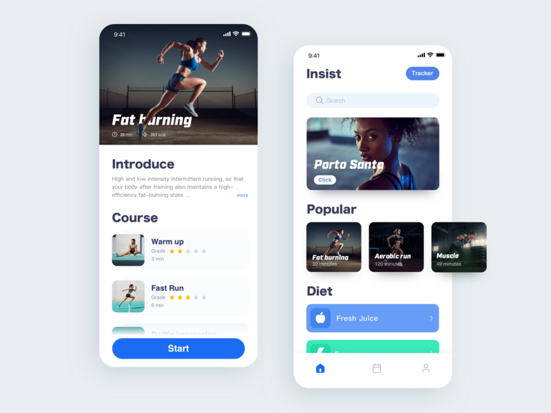Fitness App app ios card concept fitness gym layout landing minimal ui ux user workout