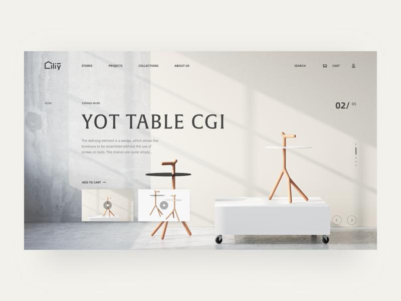 Liliy Furniture animation card ui website web