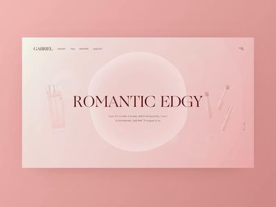 Cosmetics Web video promo motion folio ios website card ux movie graphics animations web design animation app ui