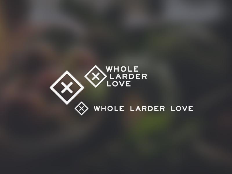 Whole Larder Love logo illustrator vector mark branding