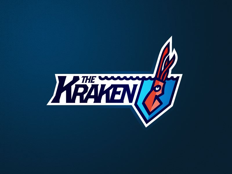 Full Kraken Mark logo illustrator vector mark extra fantasy football