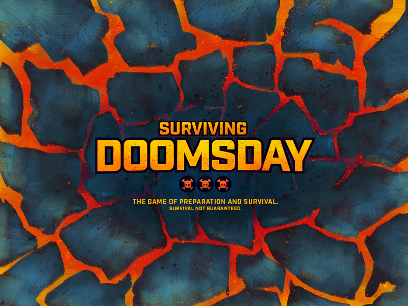 Surviving Doomsday surviving doomsday board game illustration lava volcano