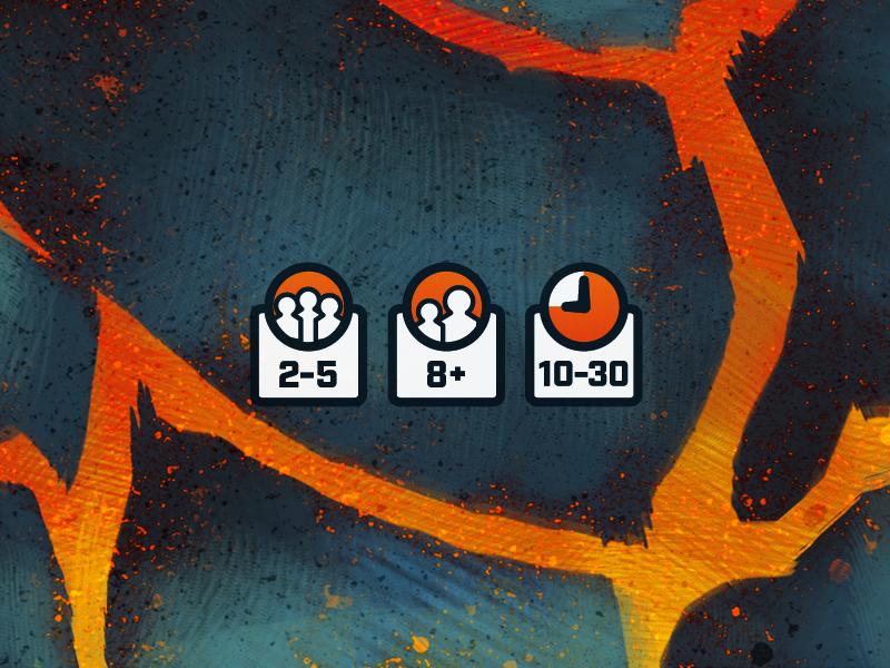 Surviving Doomsday Stats surviving doomsday board game illustration lava volcano vector