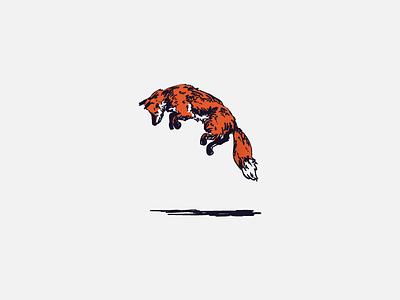 Jumping Fox vector illustration extra