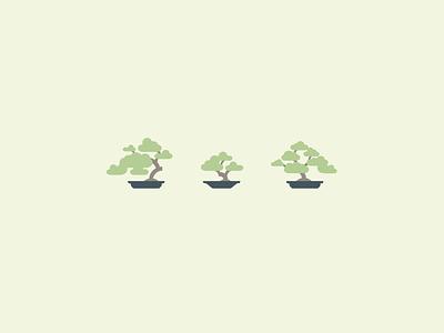 Bonsai Trees vector illustration extra element bonsai