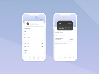 Daily UI Challenge 007 - Page Settings - Mobile light clear design illustration uxdesign payment settings uidesign dailyui dailyuichallenge