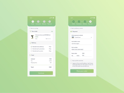 Daily UI Challenge 002 - Credit card checkout page - Mobile credit card checkout checkout lightui checkout page vector digitaldesign design uidesign uxdesign mobile ui dailyuichallenge dailyui