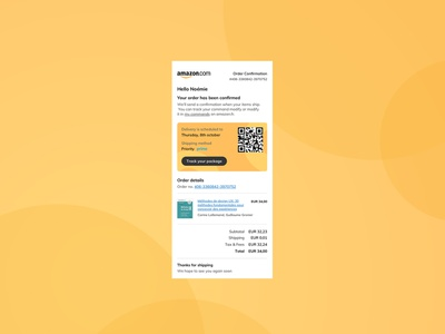 Daily UI Challenge 017 - Email Receipt - Mobile emailreceipt lightui vector uxdesign mobile ui digitaldesign uidesign dailyuichallenge dailyui