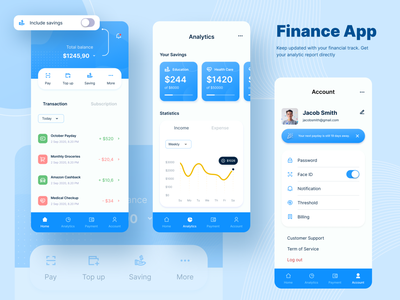 Personal Financial App financial app money manager payment method payment app payment credit card analytic chart savings app saving investment personal finance finance app banking money transfer money management money app money finacial finance