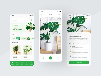 Plant Care Mobile App Design Concept plant store plant shop camera recognition scan scanner green app plants plant guide planting mobile app design mobile app farming plant care plant app plant