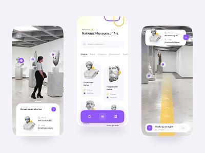 AR Museum App Design scanner studio gallery art gallery navigation bar navigation maps scan app augmented reality virtual reality painting artist art museum app museum
