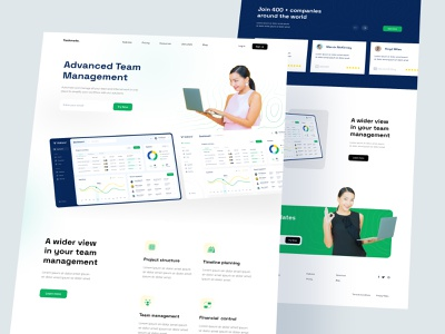 Landing Page - Team Management Dashboard 👨💻 ✨ task app management app team management dashboard landing page dashboard web subscription website hero section footer features landing page