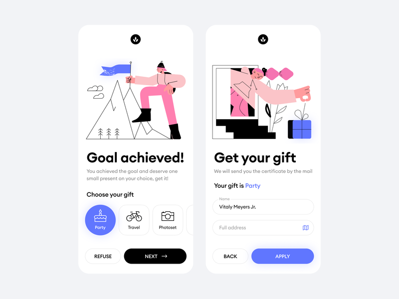 Come Together! form present goal gift ios illustrations mobile iphone clean application app design ux ui