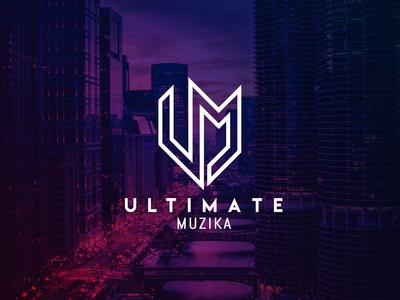 Ultimate Muzika Night Club Logo Initial