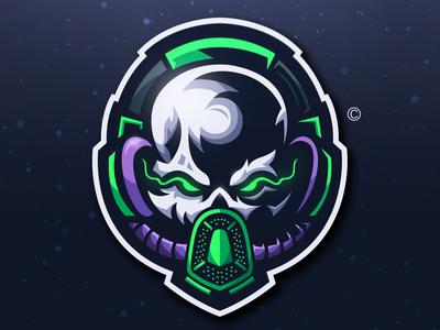 SKULL MASK + HEADSET Logo Concept