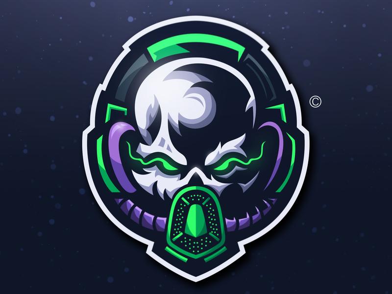 SKULL MASK + HEADSET Logo Concept by Baswan Razeky Efendi on
