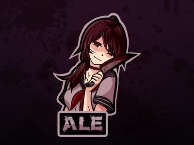 Yandere Anime Girl Logo