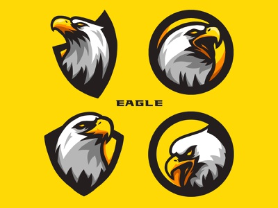 Eagle Logo Bundle brand identity brand design design icon set icon design icon 4 stock bundles bundle eagle logo eagle logotype logos logodesign illustrator illustration mascot logo logo design logo