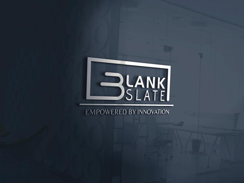 BlankSlate LOGO Design logotype brandideas clean logodesign brandidentity bradning minimalism minimal minimalist logo mockup design graphic design logo