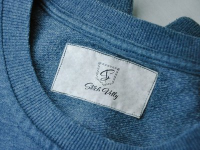 Stitch Velly clothing brand logo illustrator mockup jeans clothing brand minimalist logo brand identity branding minimallogo minimalism minimal logo graphic design design