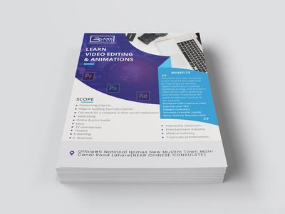 Flyer Design minimalism clean branding mockup design graphic design printing blue print design brochure design brand identity brochure flyer design flyer