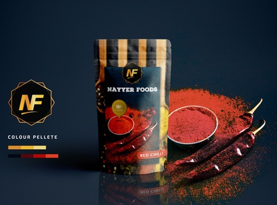 Packaging Design Red chili Powder photoshop minimalism product design products mockup brand identity branding foodie food packaging design packagedesign package design packaging design graphic design