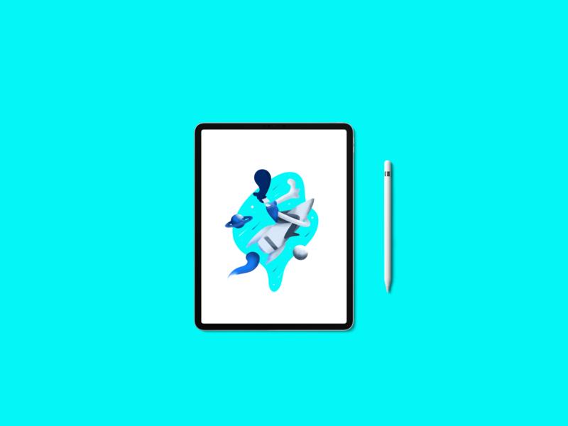 Spaceman Illustration illustration kit procreateapp procreate art procreate illustration design illustration art illustrator artwork galaxy space spaceship spaceman design ui design illustration