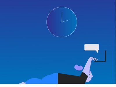 Sometimes is harder office working sleep tired doodle girl woman character vector illustration computer virus covid19 stay home pandemic