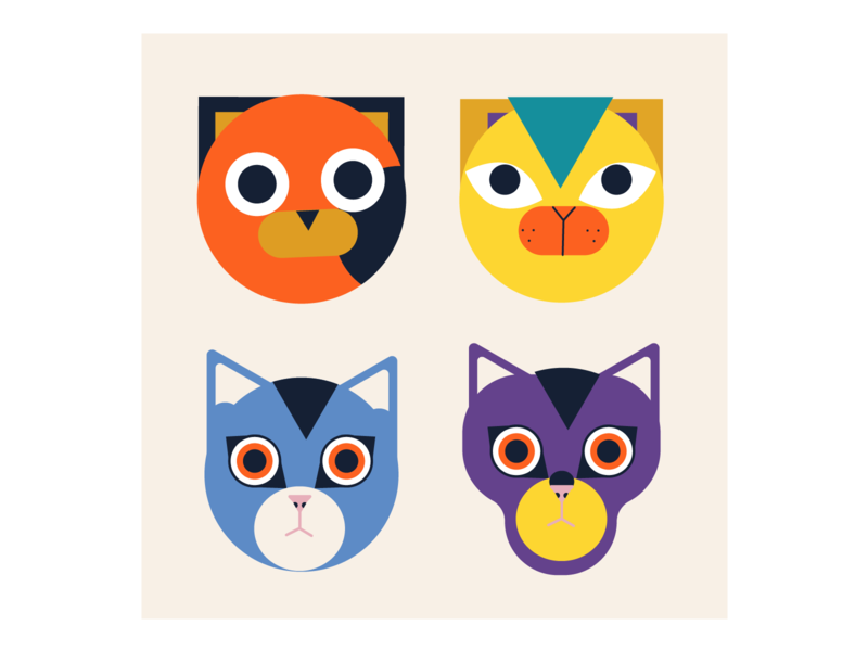 Cats vectorart character pet design cartoon animal vector illustration cat
