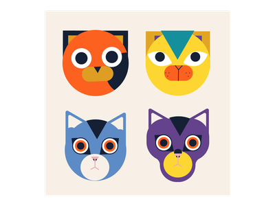 Cats vectorart character pet design cartoon animal vector illustration cat