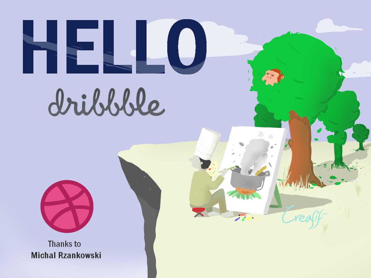 Hello Dribbble! branding art vector illustration art illustration design drawing illustration