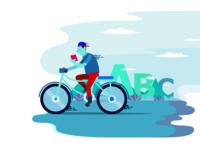 Reading while Biking