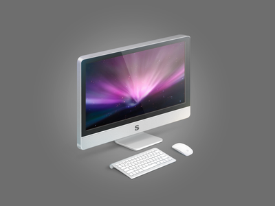 Apple iMac mouse keyboard graphic illustration graphic design desgin icons icon apple imac