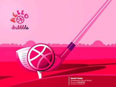 Hello Dribble mobile identity type logo icon illustrator branding vector typography lettering illustration design