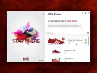 Footwear E-commerce Web Page Design