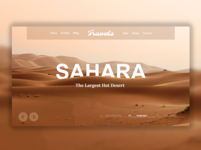 Travel Agency Wordpress Website Design Concept