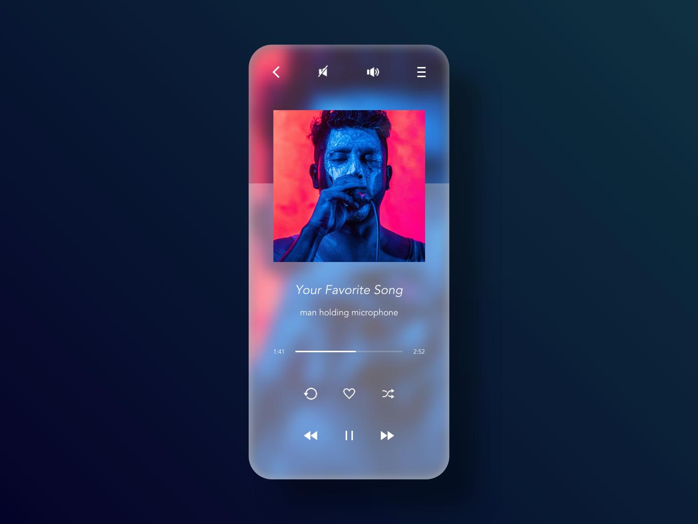 Daily UI - 009 - Music Player sketch appdesign app userinterfacedesign userinterface uidesign design ui dailyui009 dailyui