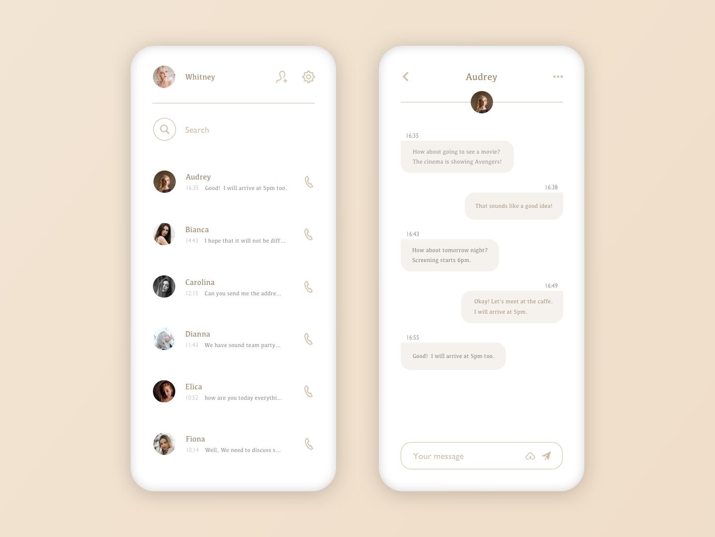 Daily UI - 013 - Direct Messaging sketch appdesign app userinterfacedesign userinterface uidesign design ui dailyui013 dailyui
