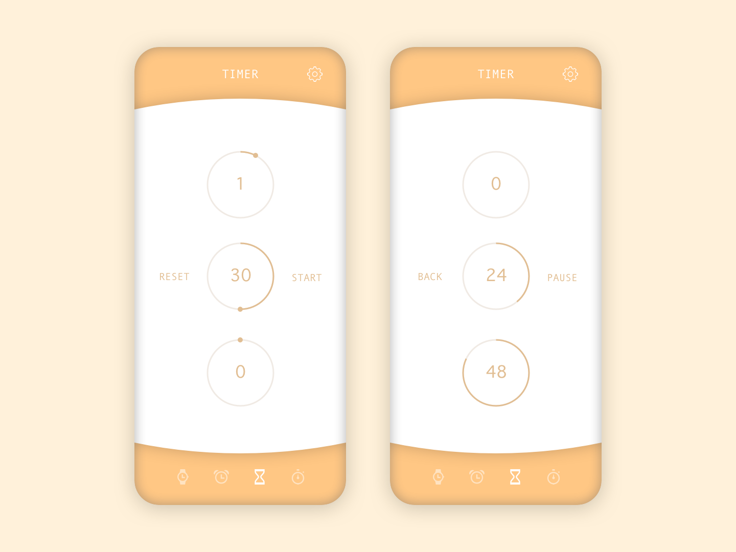 Daily UI - 014 - Countdown Timer sketch appdesign app userinterfacedesign userinterface uidesign design ui dailyui014 dailyui