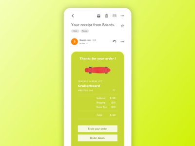 Daily UI - 017 - Email Receipt